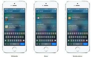iOS 8 Spotlight iPhone 6